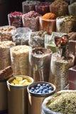 Mercato della spezia in India Fotografie Stock