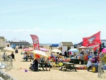 Mercato della spiaggia, Weston-Eccellente-giumenta fotografia stock