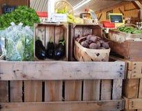 Mercato della verdura del paese Fotografia Stock