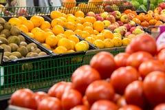 Mercato della verdura e della frutta Immagini Stock Libere da Diritti