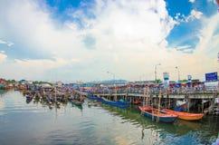 Mercato delle industrie della pesca Immagini Stock