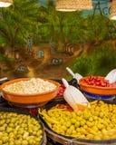 Mercato delle olive fotografia stock libera da diritti