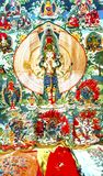 Mercato delle pulci buddista B di Panjuan della decorazione del Tanka della replica cinese Immagine Stock Libera da Diritti