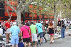 Mercato delle pulci d'annata all'aperto a Valencia, Spagna Immagini Stock