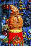 Mercato delle pulci di legno Beij di Panjuan della decorazione del pesce della replica cinese Fotografia Stock Libera da Diritti