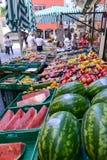 Mercato delle verdure e della frutta fresca di Lugano, Svizzera Immagine Stock