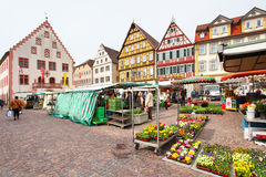 Mercato di Bad Mergentheim Immagine Stock Libera da Diritti