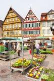 Mercato di Bad Mergentheim Fotografie Stock Libere da Diritti