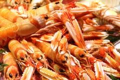 Mercato di Crawfish Mercado de la Encarrnacion in parasole c di Metropol Immagini Stock