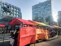 Mercato di diversità al quadrato Montevideo di indipendenza Fotografia Stock