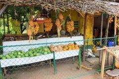 Mercato di frutta in Asia fotografie stock