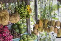 Mercato di frutta in Bali, Indonesia fotografia stock