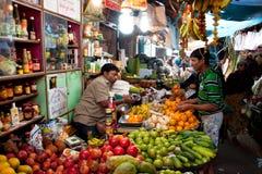 Mercato di frutta dell'Asia Fotografia Stock