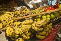 Mercato di frutta in India, Vrindavan Fotografia Stock