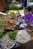 Mercato di frutta nel lago Inle Fotografia Stock Libera da Diritti