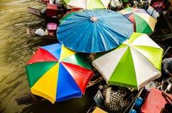 Mercato di galleggiamento della Tailandia Fotografia Stock