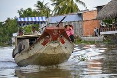 Mercato di galleggiamento, delta del Mekong, Can Tho, Vietnam Immagine Stock Libera da Diritti