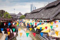 Mercato di galleggiamento di Pattaya Fotografia Stock Libera da Diritti