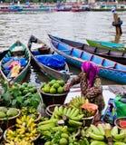 Mercato di galleggiamento di Martapura Fotografie Stock Libere da Diritti