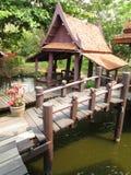 Mercato di galleggiamento Siam Bangkok antico Fotografia Stock