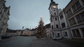 Mercato di Hrad Loket di Natale video d archivio