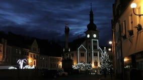 Mercato di Hrad Loket di Natale stock footage