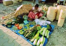 Mercato di IMA a imphal Manipur India Fotografia Stock Libera da Diritti
