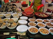 Mercato di Jalglachi dei molluschi Immagini Stock