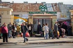 Mercato di Kalvariju Immagini Stock