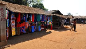 Mercato di Metarica - Niassa Mozambico Fotografie Stock