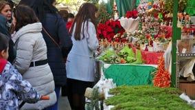 Mercato di Natale video d archivio