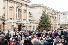 Mercato di Natale del bagno - folla della gente A Immagini Stock