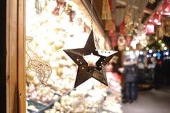 Mercato di Natale della stella Fotografie Stock Libere da Diritti