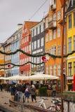 Mercato di natale di Copenhaghen Fotografie Stock
