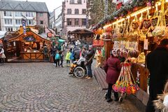 Mercato di Natale di Francoforte Fotografia Stock Libera da Diritti