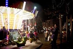 Mercato di Natale di Monaco di Baviera, Germania Harass, girotondo fotografia stock