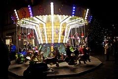 Mercato di Natale di Monaco di Baviera, Germania Harass, girotondo fotografie stock