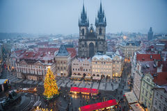 Mercato di Natale di Praga Fotografia Stock Libera da Diritti