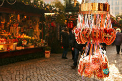 Mercato di Natale Dresda, Germania Celebrazione del Natale in Europa Immagine Stock Libera da Diritti