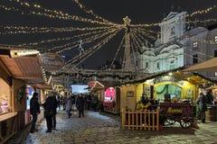 Mercato di Natale di Hof a Vienna, Austria Fotografie Stock