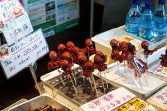 Mercato di Nishiki a Kyoto fotografie stock