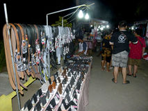 Mercato di notte Fotografie Stock Libere da Diritti