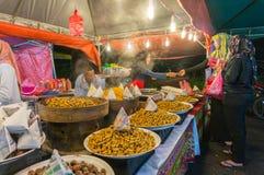 Mercato di notte del venditore a Cameron Highland Malaysia Fotografia Stock