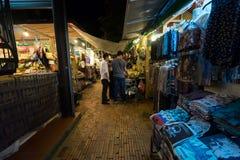 Mercato di notte di Angkor in Siem Riep, Cambogia Immagine Stock Libera da Diritti
