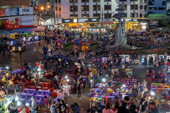 Mercato di notte di Dalat Fotografie Stock Libere da Diritti
