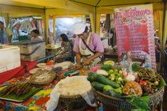 Mercato di notte di Krabi fotografia stock