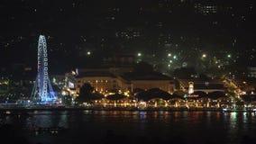 Mercato di notte di lungofiume di Asiatique a Bangkok video d archivio