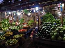 Mercato di notte in Nyaungshwe, Myanmar Fotografie Stock