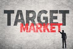 Mercato di obiettivo fotografia stock