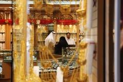 Mercato di oro nel Dubai, oro Souq di Deira Fotografia Stock